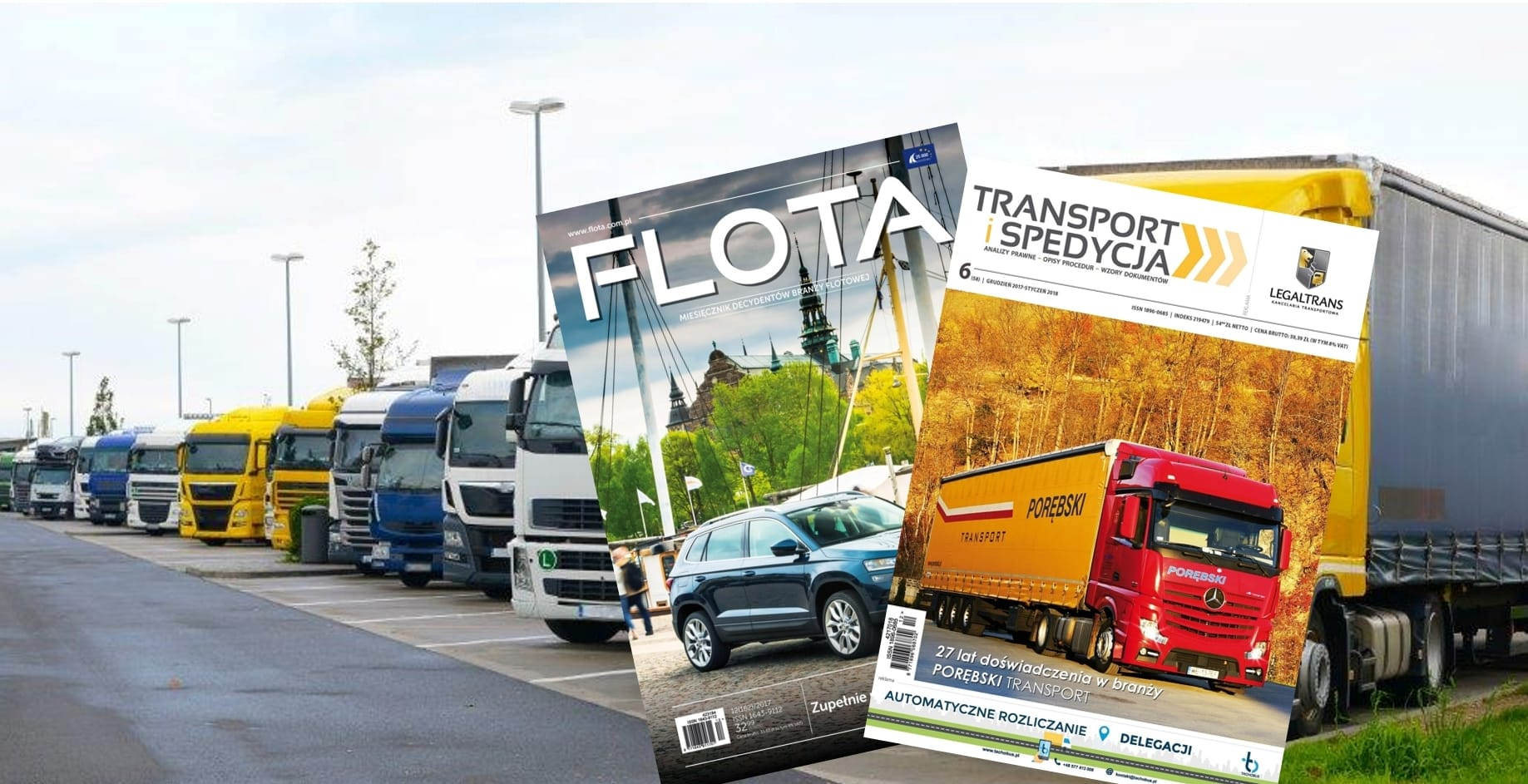 Współpraca z wydawcą magazynów branżowych FLOTA oraz TRANSPORT I SPEDYCJA
