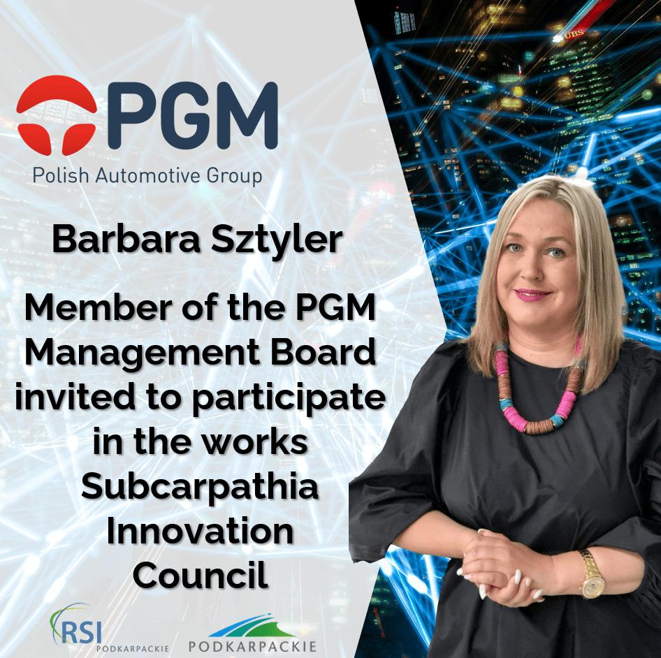 Barbara Sztyler invited to Subcarpathia Innovation Council
