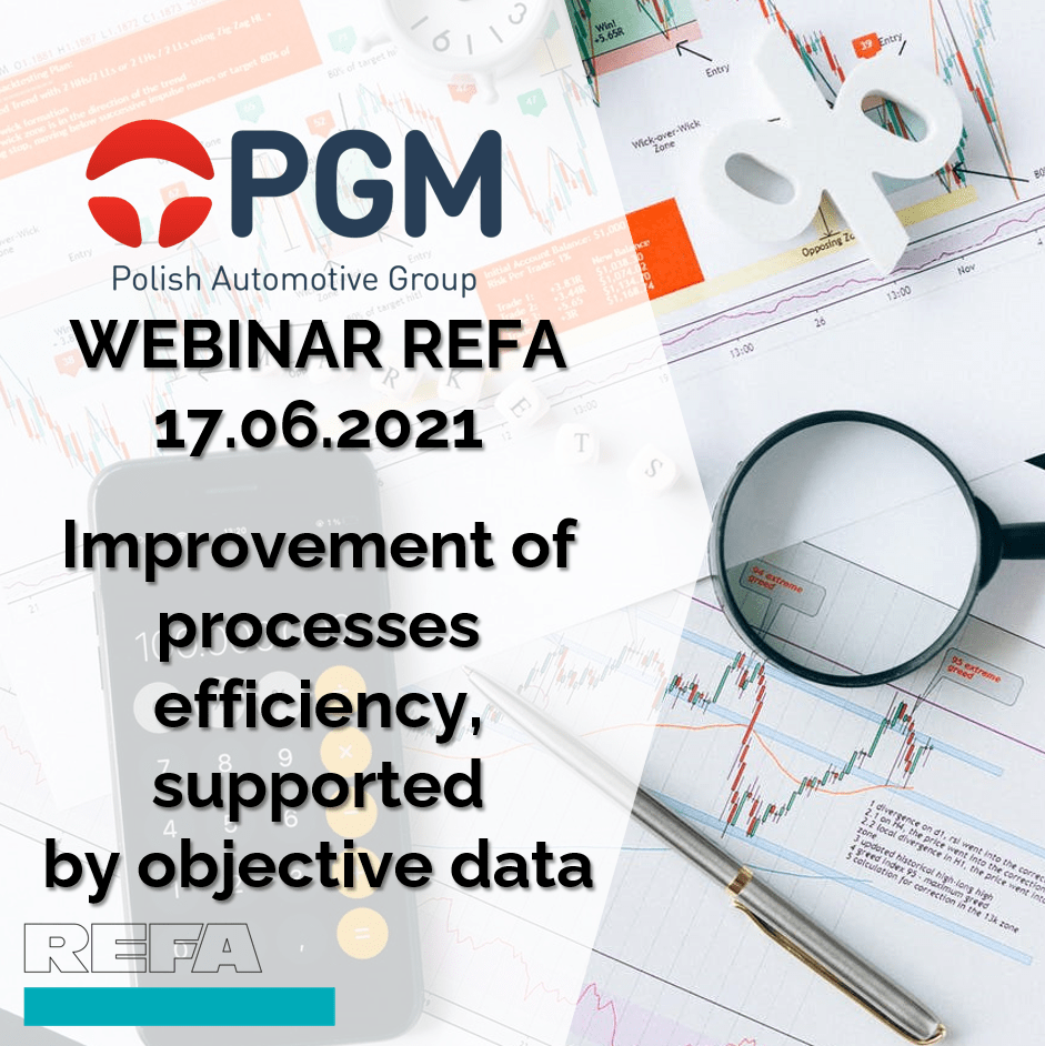 Improvement of processes efficiency, supported by objective data
